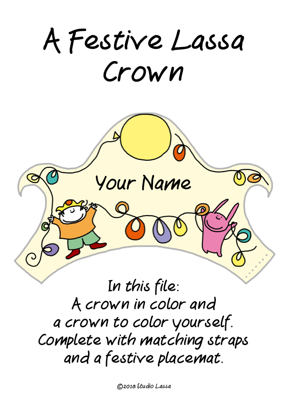 Create a Birthday Crown with name and age