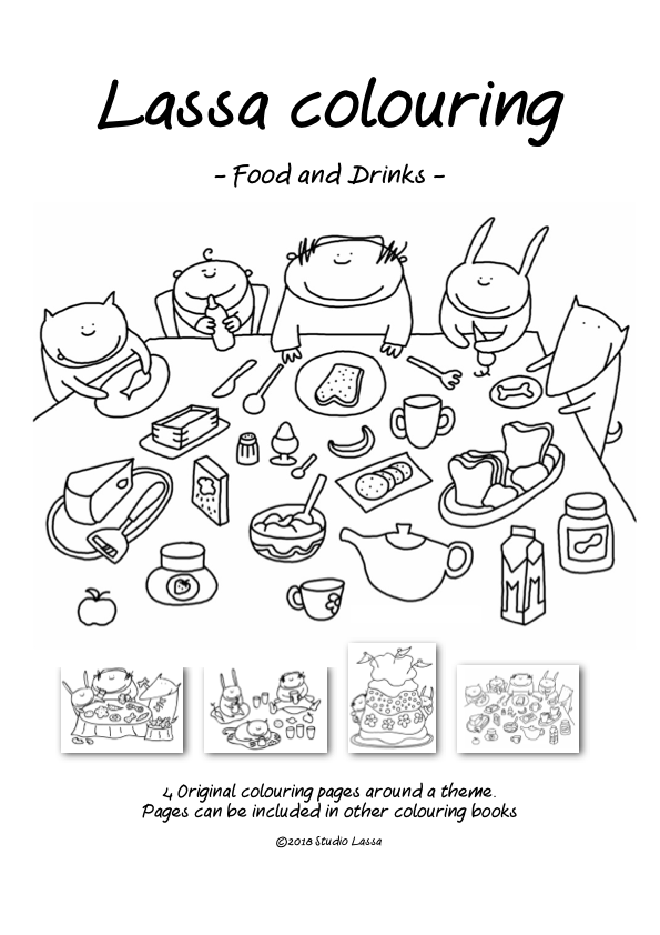 Coloring book: Food and Drinks
