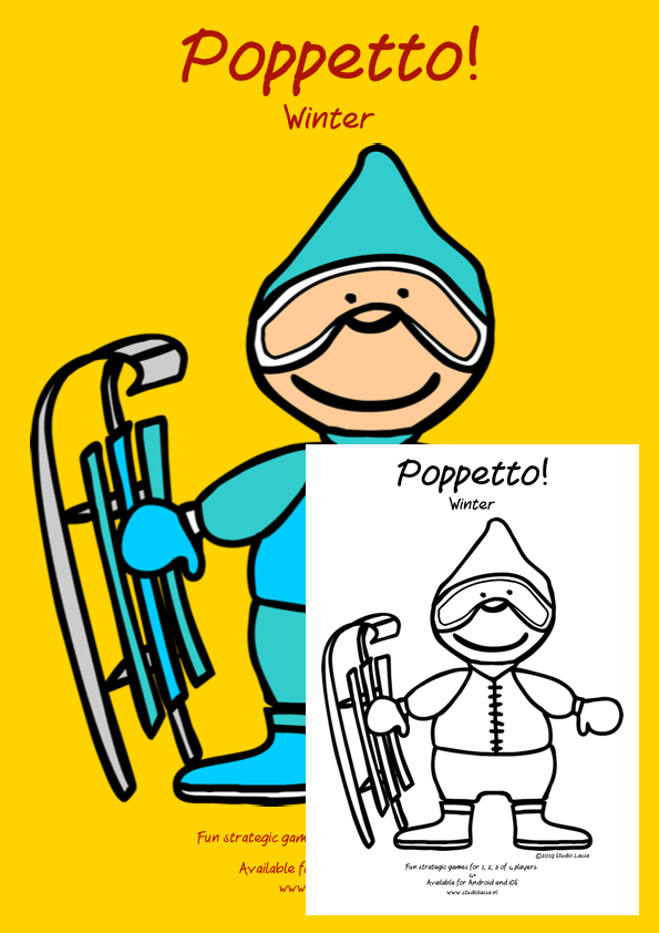 Poppetto Winter Poster and colouring page