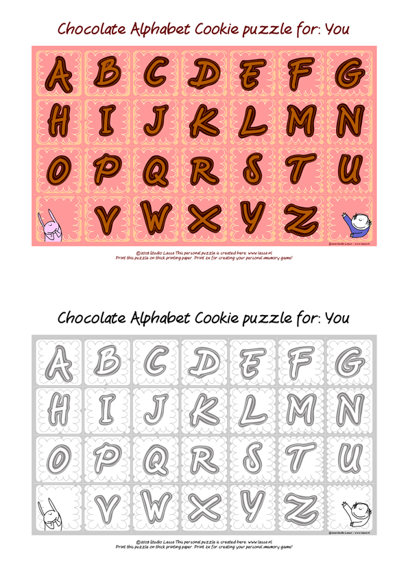 Create a Personalised Choclate Letter Puzzle